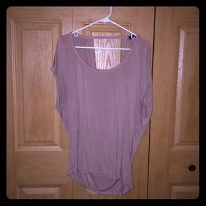 Mauve slouch back shirt